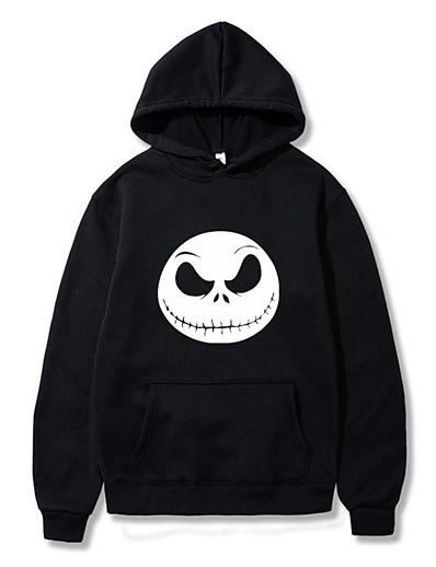cheap HALLOWEEN 2020-Men's Daily Pullover Hoodie Sweatshirt Graphic Monograms Hooded Casual Hoodies Sweatshirts  White Black Gray
