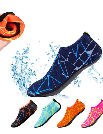 cheap Surfing, Diving & Snorkeling-Men's Women's Water Socks Aqua Socks Polyester Quick Dry Anti-Slip Barefoot Yoga Swimming Diving Snorkeling Water Sports - for Adults