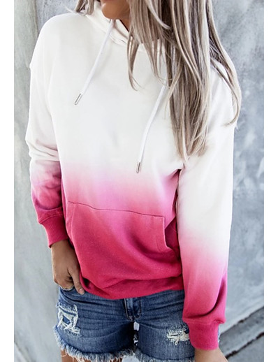 cheap Women's Tops-Women's Tie Dye Hoodie Pullover Other Prints Daily Casual Hoodies Sweatshirts  Blue Green Red