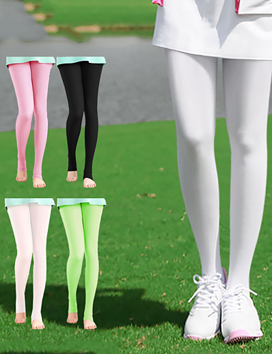 cheap Golf, Badminton & Table Tennis-Women's Golf Leggings Breathable Quick Dry Soft Athleisure Outdoor Summer Modal Solid Color Light Coffee White Black Light Green Light Red / Stretchy