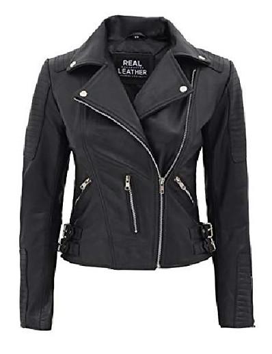 abordables Vestes Femme-vestes en cuir pour femmes - veste décontractée | [1303852] bari, s