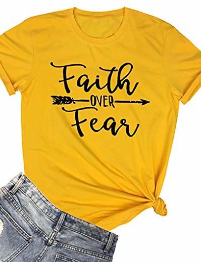 abordables NOUVELLE DANS-t-shirts d'été graphiques pour femmes t-shirts mignons jaune petit