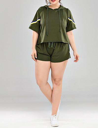 preiswerte Plus Size Loungewear-Damen Polyester Anzüge XL Armeegrün