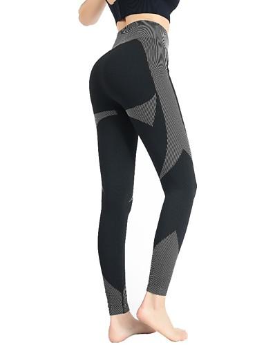 abordables Bas-Femme Sportif Yoga Respirable Mince Quotidien Joggings Pantalon Multicolore Cheville Taille haute Noir Rose Claire Vert