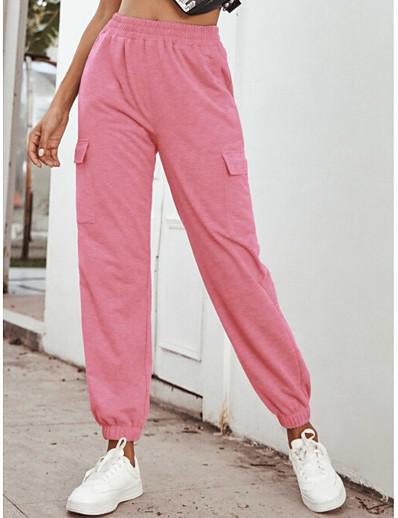 abordables Bas-Femme Sportif Des sports Ample Quotidien Joggings Pantalon Imprimé Toute la longueur Taille haute Blanche Noir Violet