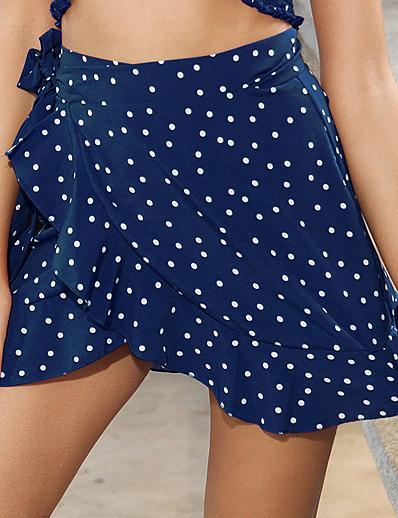 cheap Women's Bottoms-Women's Daily Wear Basic Skirts Floral Bow Ruffle Print Black Blue Red / Mini
