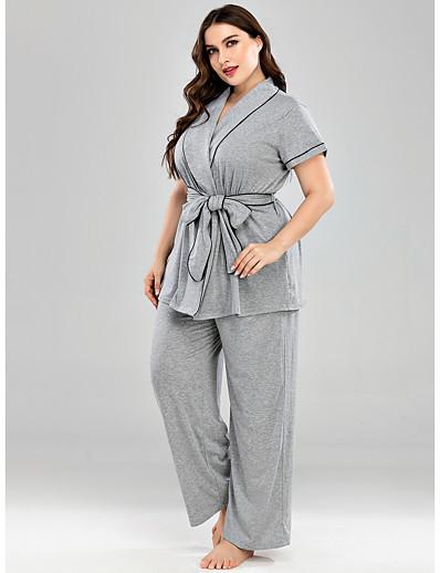 abordables Vêtements d'intérieur grande taille-Femme Mélange de Coton Costumes XL Vert