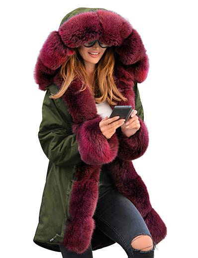 cheap 2021 Trends-women thicken warm winter coat hooded parka overcoat long jacket outwear (xl, beige)