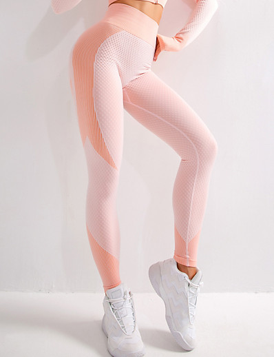 cheap Bottoms-Women's Sporty Yoga Breathable Slim Daily Sweatpants Pants Multi Color Ankle-Length High Waist Black Blushing Pink Green