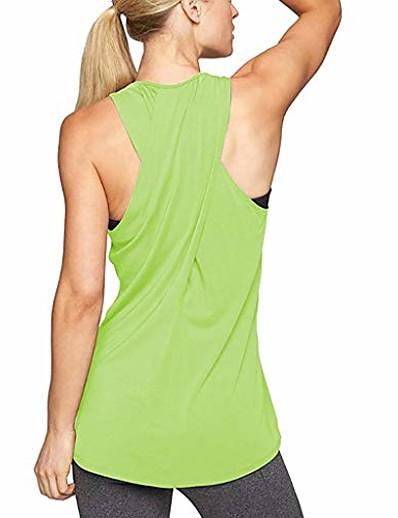 preiswerte Laufen, Joggen und Walken-Workout-Tops für Frauen, Cross-Back-Yoga-Shirt ärmelloses Racerback-Workout-Aktiv-Tanktop (a-grün, groß)