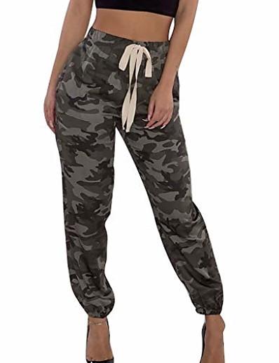 cheap Running, Jogging & Walking-women camo trouser jogger pants plus size casual cargo hip hop rock trousers