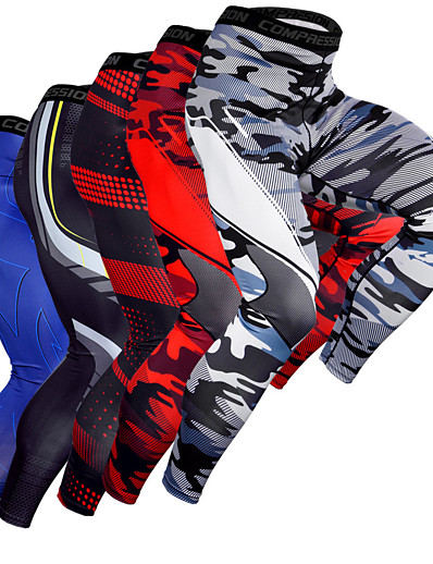 cheap Running, Jogging & Walking-JACK CORDEE Men's Running Tights Leggings Compression Pants Baselayer Athletic Bottoms Color Block Spandex Winter Fitness Gym Workout Performance Running Training Breathable Quick Dry Soft Sport