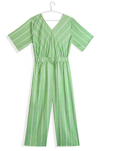 cheap Jumpsuits & Rompers-Women's Basic Green Jumpsuit Striped Patchwork