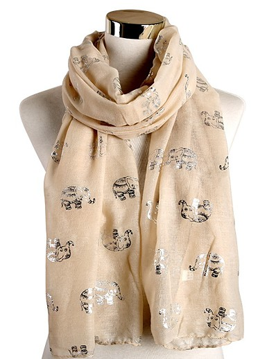 cheap Christmas Accessories-Women's Christmas Rectangle Scarf - Graphic Washable