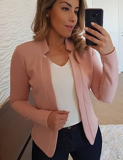 preiswerte Damen Blazer-Damen Blazer Mantel Tops hellrosa / cremig