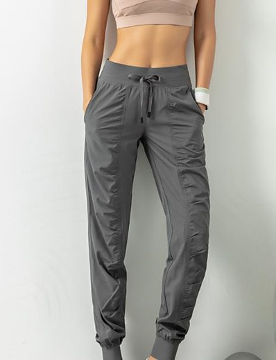 cheap Women's Bottoms-Women's Sporty Breathable Slim Daily Sweatpants Pants Solid Colored Ankle-Length High Waist Black Blushing Pink Gray