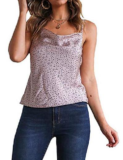 abordables Débardeurs pour Femme-Femmes doux satin camisole Loapard imprimer sans manches licou débardeur spaghetti sangle cami gilet& # 40; leopard02, xl& # 41;