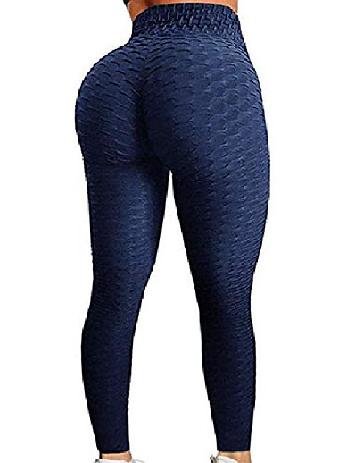 cheap Running, Jogging & Walking-Women's Yoga Pants Tights Leggings Bottoms Jacquard Solid Color Tummy Control Butt Lift Quick Dry Light Blue orange Pink Yoga Fitness Gym Workout Spandex Winter Summer Sports Activewear Slim Stretchy