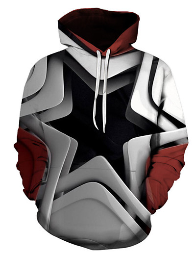 cheap NEW IN-Men's Pullover Hoodie Sweatshirt Graphic Tribal Hooded Going out Party Halloween Hoodies Sweatshirts  Long Sleeve Rainbow / Club