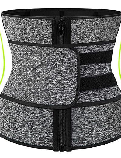 abordables Exercice, Fitness & Yoga-corset d'entraînement de taille de sueur de néoprène pour la perte de poids des femmes avec la fermeture à glissière de ykk, serre-taille de corps de ceinture de tondeuse