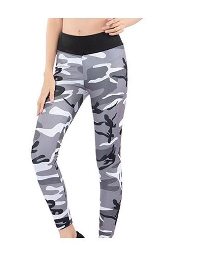 cheap Women's Bottoms-Women's Sporty Yoga Breathable Slim Daily Sweatpants Pants Camouflage Ankle-Length High Waist Black Purple Blushing Pink