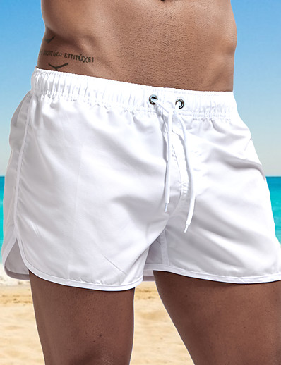 cheap Sportwear-Men's Swim Shorts Swim Trunks Bottoms Breathable Quick Dry Swimming Surfing Water Sports Solid Colored Summer