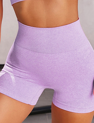 cheap Running, Jogging & Walking-Women's High Waist Athleisure Compression Shorts Running Tight Shorts Shorts Bottoms Nylon Fitness Gym Workout Performance Running Training Summer Tummy Control Butt Lift Quick Dry Sport Solid Colored