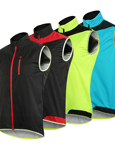 cheap Running, Jogging & Walking-Arsuxeo Men's Sleeveless Windbreaker Running Vest Gilet Full Zip Outerwear Safety Vest Top Athletic Summer Mesh High Visibility Reflective Waterproof Fitness Gym Workout Basketball Running Cycling