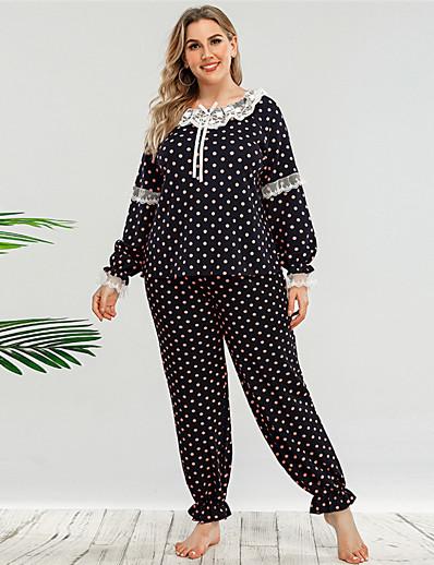 abordables Vêtements d'intérieur grande taille-Femme Polyester Costumes L Noir