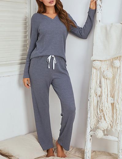 abordables Pyjamas-Femme Polyester Costumes S Bleu