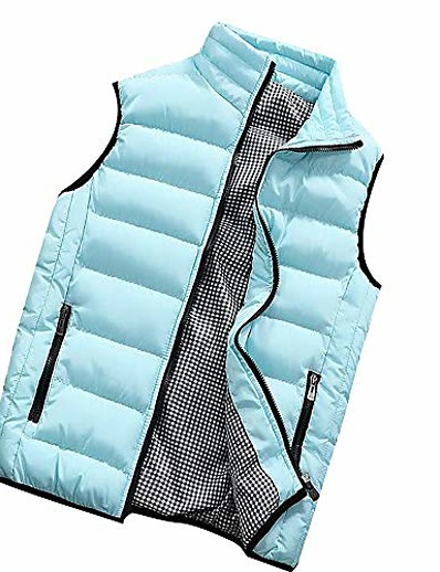 cheap Men's Outerwear-fanshonn men's autumn winter full zip lightweight water-resistant packable puffer vest