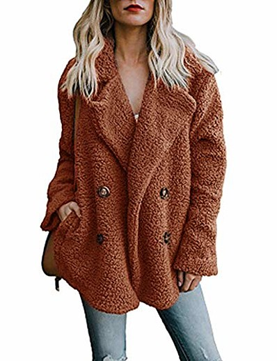 cheap OUTERWEAR-women's winter warm parka outwear jacket ladies household coat by sunsee 2019 sales (3xl15, brown)