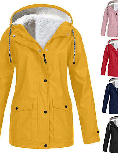 저렴한 소프트쉘, 플리스 & 하이킹 재킷-여성용 양털 까마귀 자켓 하이킹 바람막이 점퍼 집 밖의 방수 빠른 드라이 땀 흡수 기능성 소재 내마모성 코트 탑스 다크 그레이 다크 레드 핑크 육군 녹색 푸른