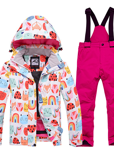 cheap Ski & Snowboard-Boys' Girls' Ski Jacket with Pants Skiing Snowboarding Winter Sports Waterproof Windproof Warm 100% Polyester Clothing Suit Ski Wear / Kids