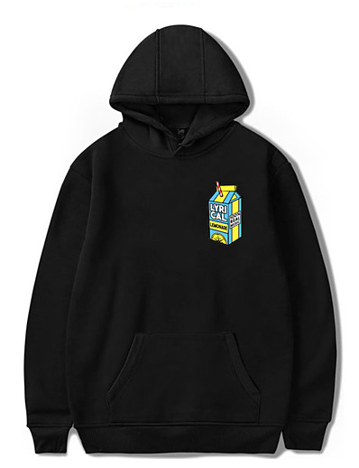 cheap Men's Tops-lyrical shirt lemonade, lyricallemonade merch hooded sweatshirt black