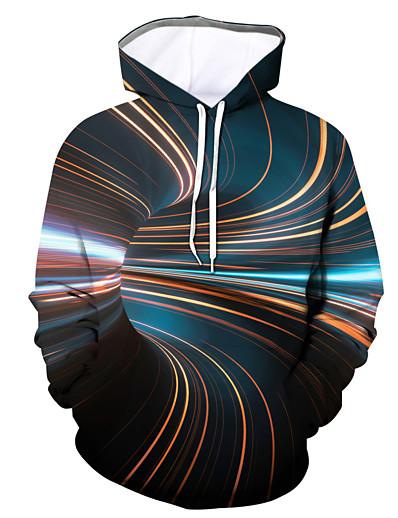 cheap Men's Tops-Men's Pullover Hoodie Sweatshirt Graphic Hooded Daily Casual Hoodies Sweatshirts  Long Sleeve Rainbow