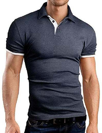 abordables Hauts Homme-polo polo slim fit contraste, gris, s, gb160
