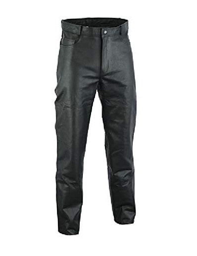 cheap Men's Bottoms-mens genuine leather black pants (48 w)