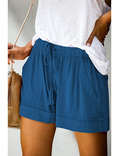 cheap Women-Women's Basic Outdoor Daily Shorts Pants Simple Short Classic Light Blue Lake blue Wine Red Pink ArmyGreen