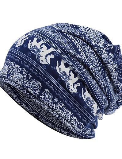 abordables NOUVELLE DANS-Unisexe Chapeau protecteur Coton basique - Imprimé Printemps Hiver Blanche Noir Bleu