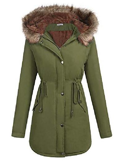cheap OUTERWEAR-women's windbreaker outwear warm wool coat down jackets army green