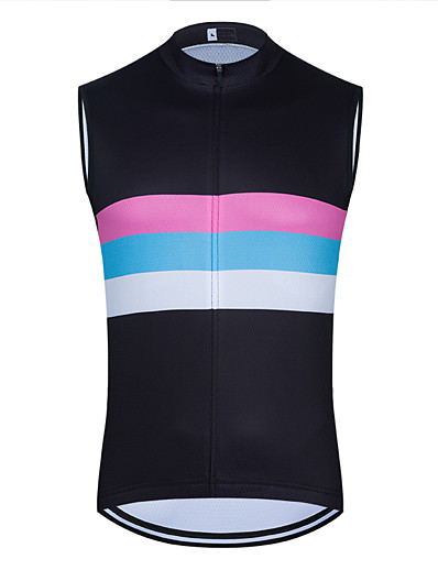 cheap Cycling-21Grams Women's Sleeveless Cycling Jersey Cycling Vest Summer Black Rainbow Bike Vest / Gilet Jersey Mountain Bike MTB Road Bike Cycling Breathable Quick Dry Anatomic Design Sports Clothing Apparel