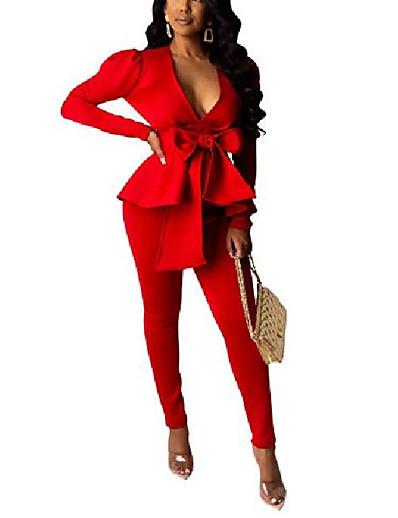 preiswerte Damen Blazer-Damen Blazer Volltonfarbe Vintage-Stil Anzüge Polyester Freizeitskleidung Normal Mantel Oberteile Weiß