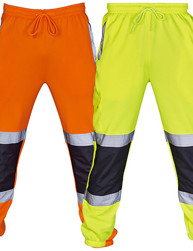 cheap Running, Jogging & Walking-Men's Sweatpants Joggers Jogger Pants Street Bottoms Drawstring Reflective Strip Cotton Winter Fitness Gym Workout Running Training Exercise Thermal Warm Reflective Breathable Sport Solid Colored
