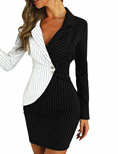 abordables Robes élégantes-Robe crayon business slim sans manches style rétro des années 1950 pour femme blanc