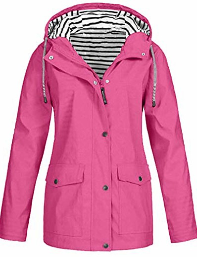 preiswerte Damen Blazer-Damen Volltonfarbe Sport Frühling & Herbst Jacke Standard Freizeitskleidung Polyester Mantel Oberteile Schwarz