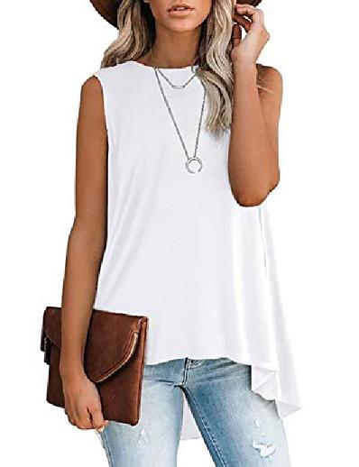 cheap Tank Tops-Women's Vest T shirt Basic Tops Wine ArmyGreen White