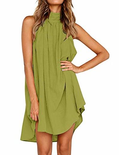 cheap Outerwear-womens dresses holiday irregular ladies summer beach mini dress