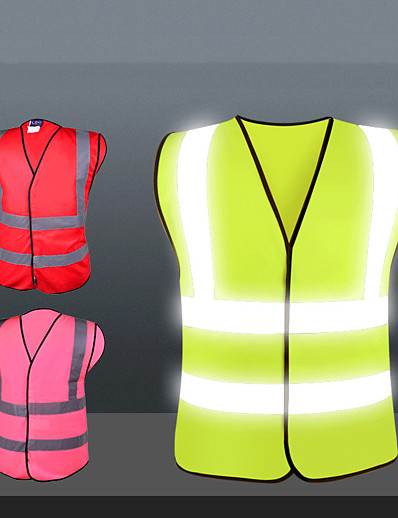 cheap SPORTSWEAR-Reflective Vest Safety Vest Running Gear Breathable Durable Class 2 High Visibility Reflective Strip Portable Lightweight Comfy Versatile for Running Cycling / Bike Jogging Dog Walking Men Women