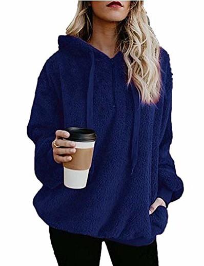 abordables Vestes Femme-Femme Manteau Normal Couleur unie Usage quotidien Bleu marine Gris Clair Gris Foncé Wine S M L XL